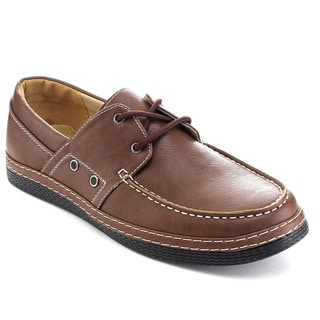 Rocus XH-93S Men's Low Top Lace Up Moccasin Low Heel Oxfords