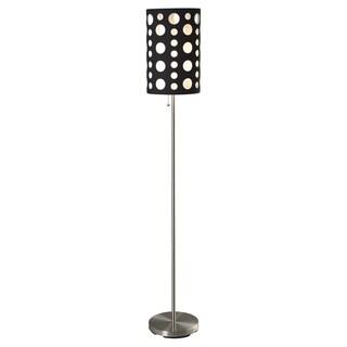 Journee Home 'City Lights' 62 inch Brushed Steel Floor Lamp