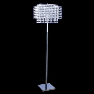 Journee Home 'Elegance' 60 inch Drop Crystal Floor Lamp