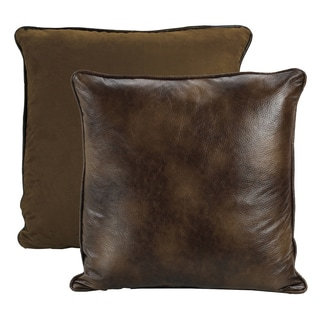 HiEnd Accents Brown Polyester Euro Throw Pillow