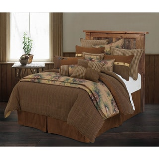 HiEnd Accents Crestwood Brown Wool 5-piece Comforter Set