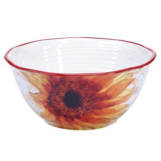 Certified International Paris Sunflower Deep Bowl 10.75-inch x 5-inch