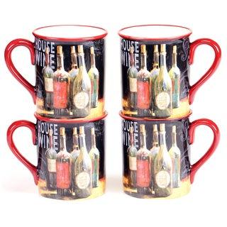 Certified International House Wine 16-ounce Mug (Set of 4)