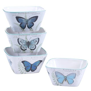 Certified International Tuileries Garden Ice Cream Bowls, 5.25-inch x 2.75-inch, 2 Assorted Designs (Set of 4)