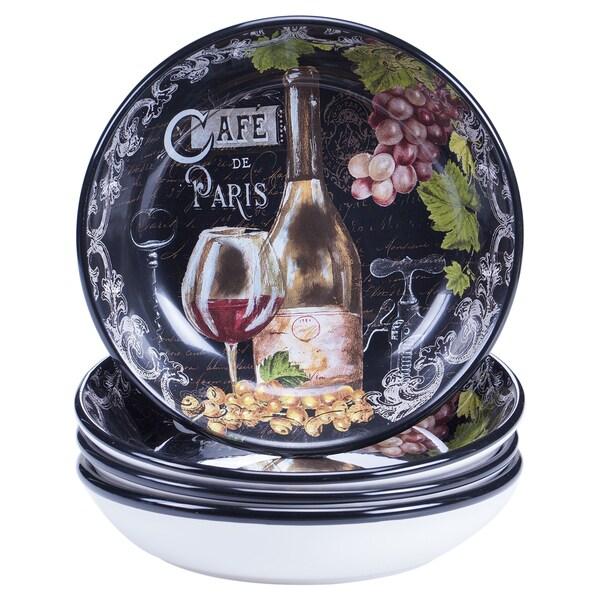 Certified international grand vin soup pasta bowl 9.25 inch x 2 inch set of 4 2bfb8b4f cd48 4efb ab13 f983c8d04b60 600