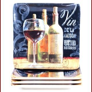 Certified International House Wine 10.5-inch Dinner Plate (Set of 4)