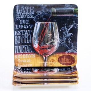 Certified International House Wine 8.25-inch Salad/Dessert Plates (Set of 4)