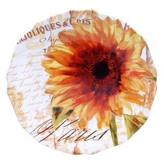 Certified International Paris Sunflower Round Platter 15-inch