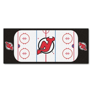 Fanmats Machine-made New Jersey Devils White Nylon Rink Runner (2'5 x 6')