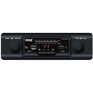 Pyle PLR14MPF In-dash AM/FM-MPX/ MP3 Shaft Style Dual Knob Receiver with USB/ SD Card Ports (Refurbished)