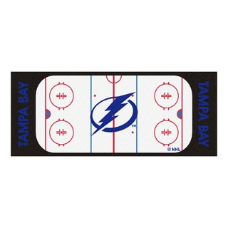 Fanmats Machine-made Tampa Bay Lightning White Nylon Rink Runner (2'5 x 6')