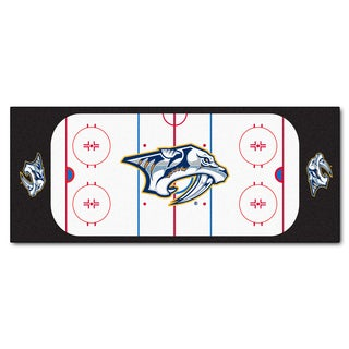 Fanmats Machine-made Nashville Predators White Nylon Rink Runner (2'5 x 6')