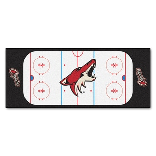 Fanmats Machine-made Phoenix Coyotes White Nylon Rink Runner (2'5 x 6')