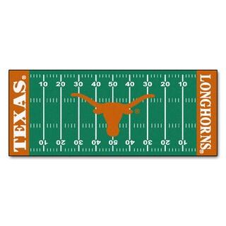 Fanmats Machine-made University of Texas Green Nylon Football Field Runner (2'5 x 6')