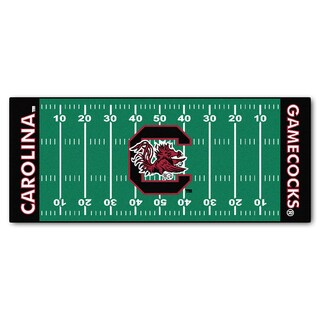 Fanmats Machine-made University of South Carolina Green Nylon Football Field Runner (2'5 x 6')