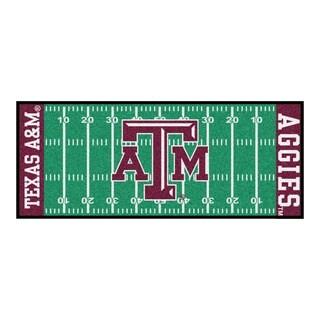 Fanmats Machine-made Texas A&M University Green Nylon Football Field Runner (2'5 x 6')