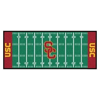 Fanmats Machine-made University of Southern California Green Nylon Football Field Runner (2'5 x 6')