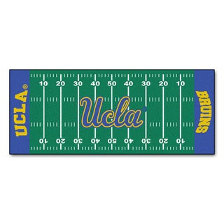 Fanmats Machine-made UCLA Green Nylon Football Field Runner (2'5 x 6')