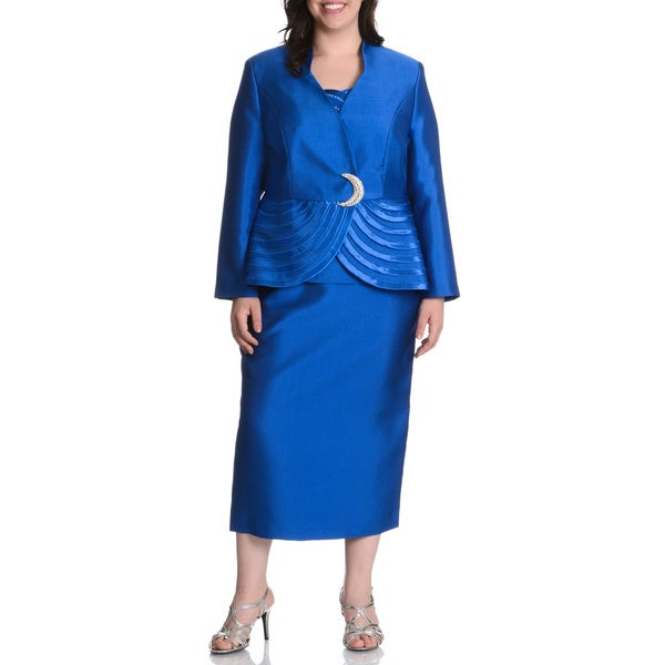 giovanna collection s plus size 3 skirt suit