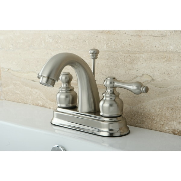 Classic Satin Nickel Double-handle Bathroom Faucet