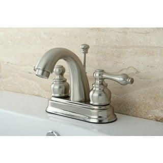 Classic Satin Nickel Double-handle Bathroom Faucet