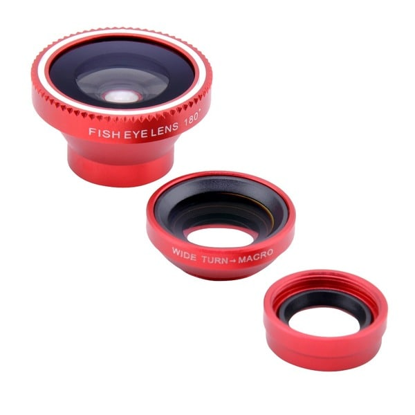 Patuoxun 3 in 1 Detachable Fisheye Lens Wide Angle Macro Micro Lens Photo Kit Set for iPhone 6/ 6 Plus 5S 5C 5 4 4S