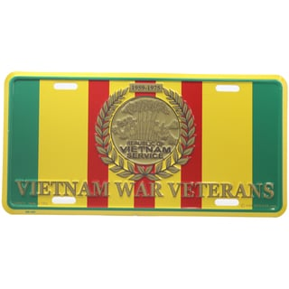 Vietnam War Veterans Logo License Plate