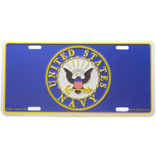 US Navy Logo License Plate