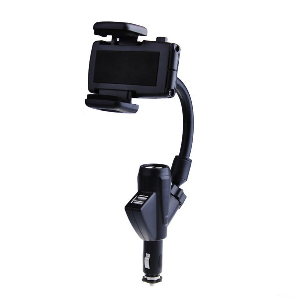 Patuoxun Dual USB Car Charger Phone Cradle Mount Holder Stand