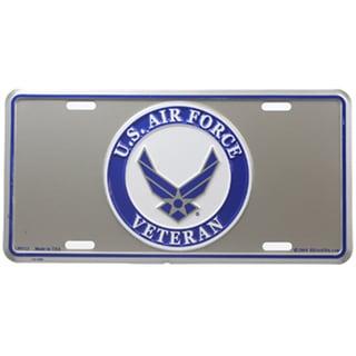 US Air Force Veteran Logo License Plate