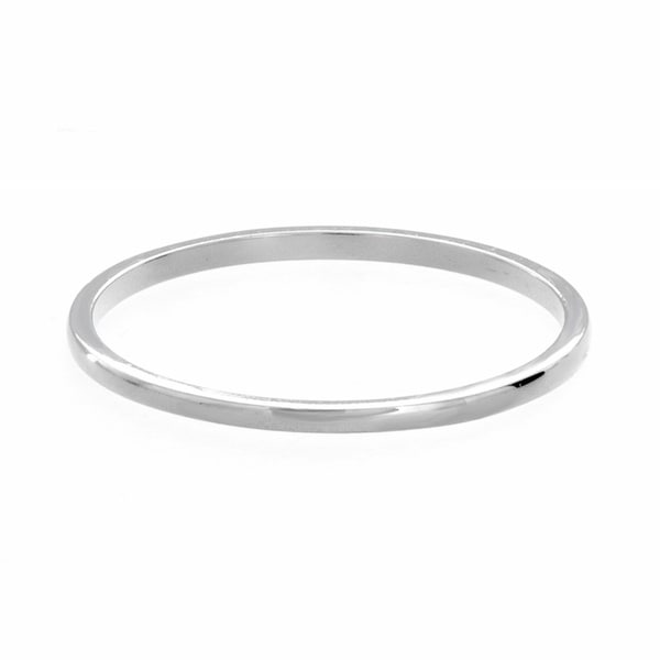 Sterling Essentials Silver Polished 1mm Midi Ring