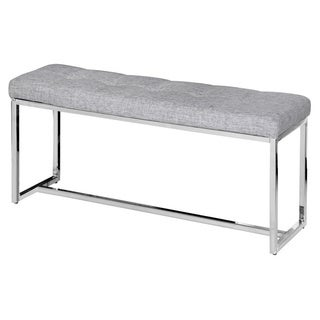 Vibes Faux Leather/ Fabric Tufted Double Bench