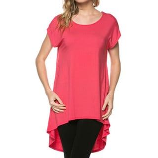 Tabeez Women's High-low Cap Sleeve Tunic