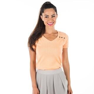 DownEast Basics Women's Short Sleeve Uptown Sweater