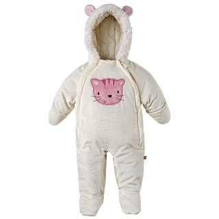 Wippette Baby Girls Extra Plush Footed and Hooded Snowsuit with Hand Warmers