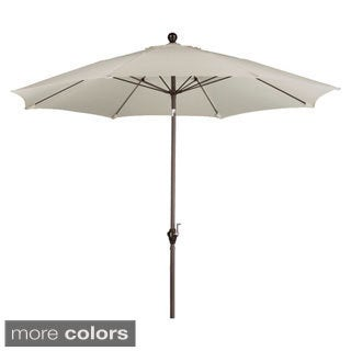 Somette 9-Foot Market Umbrella Fiberglass Frame with Bronze Finish and Polyester Fabric