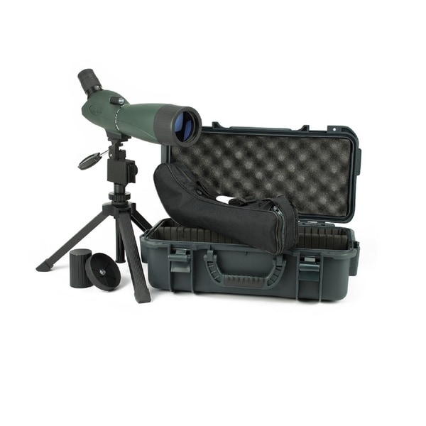 Hawke Vantage 20-60x60 BAK 7 Angled Green Spotting Scope Kit