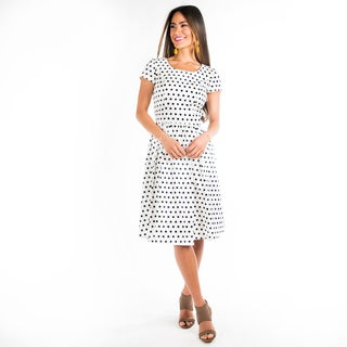 DownEast Basics Women's Polka Dot to Hot Dress