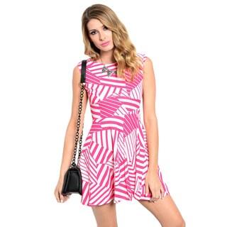 Shop The Trends Women's Sleeveless A-Line Geo Print Dress