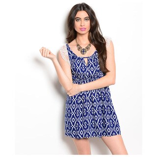 Shop The Trends Women's Lace Flutter Cap Sleeve Babydoll Dress