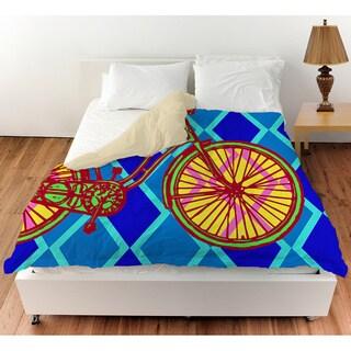 Thumbprintz Neon Party Bike Duvet Cover