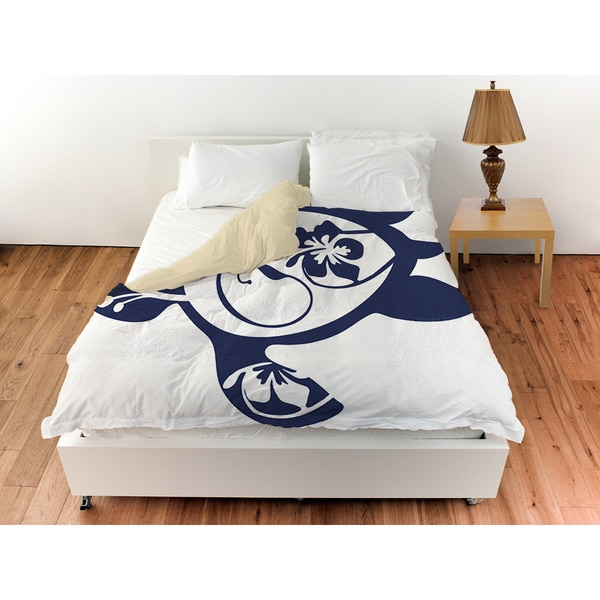 Thumbprintz Honu Turtle Navy Duvet Cover