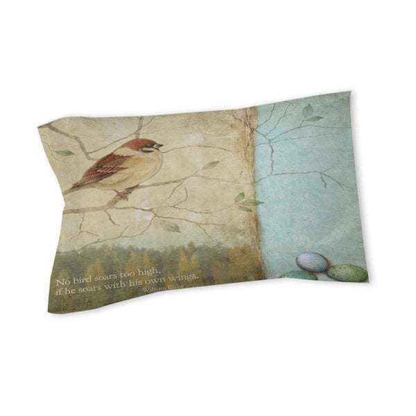 Thumbprintz Bird Quote Sparrow Sham