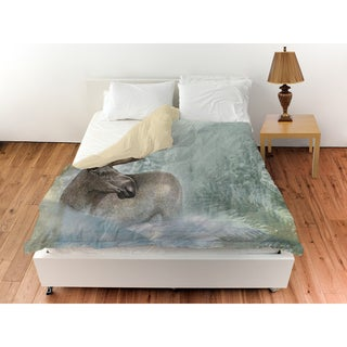 Thumbprintz Conifer Lodge Moose Duvet Cover