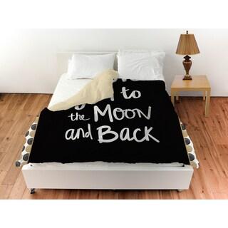 Thumbprintz Moon Gold and Black Duvet Cover