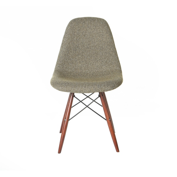 Retro Eames Style Grey Fabric and Wood Eiffel Legs Side Chair (China)