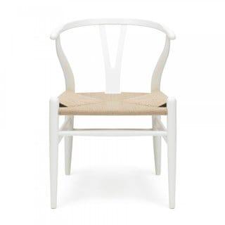 Wishbone White Steel Side Chair (China)