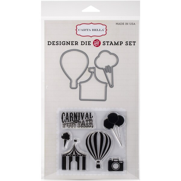 Carta Bella Die & Stamp Combo SetCarnival Fun