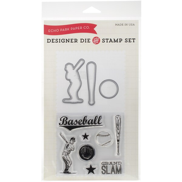 Echo Park Die & Stamp Combo SetBaseball