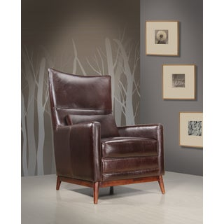 Hellewell Coffee Brown Leather Side Chair